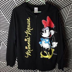 Disney Minnie Mouse Zip Up Hoodie Sweatshirt